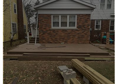 Concrete Patio Replacement and Deck Build