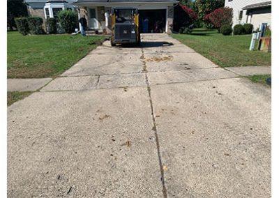 concrete driveway before
