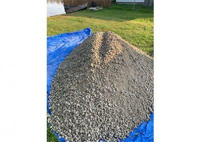 concrete patio base layer