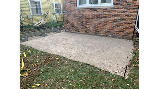 before image concrete patio
