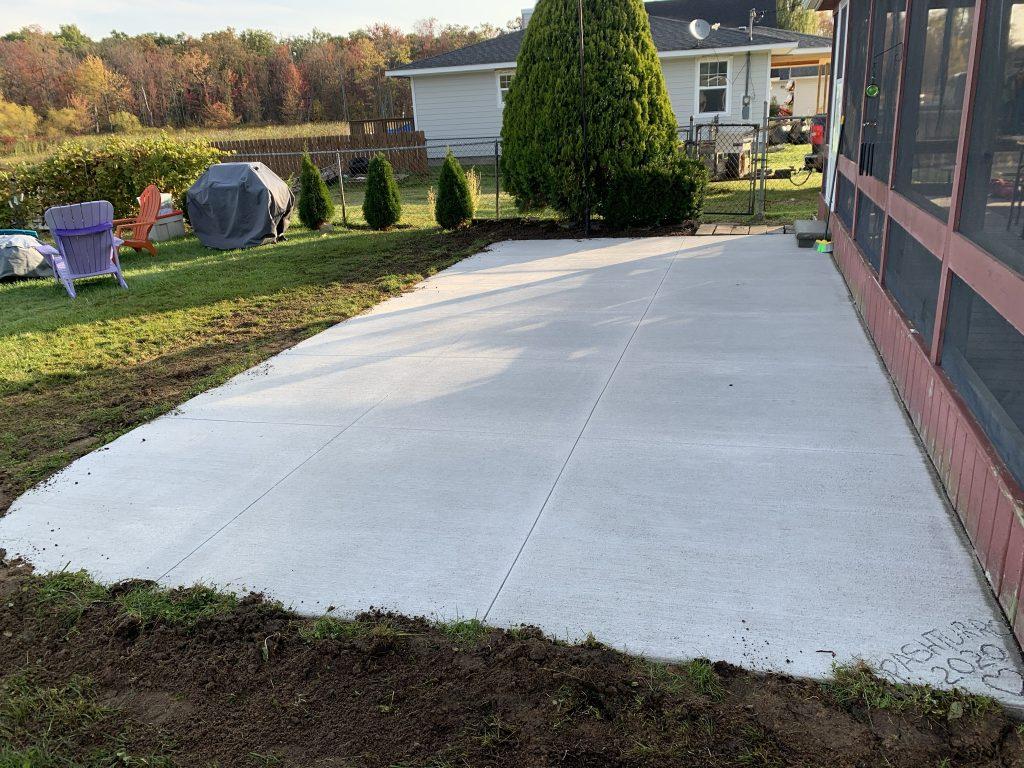 new concrete driveway